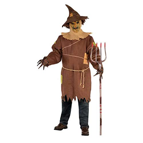Scary Scarecrow Costumes Party City - Amscan Adult Scary Scarecrow Costume Adult