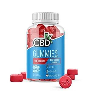 CBDfx Mixed Berry CBD Gummies (60 Gummy Bottle) &#...