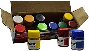 علبة الوان اكريليك تحوي 12 لون مختلف من ماركة العقيلي