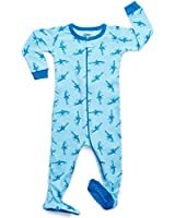 Leveret Kids Sharks Baby Boys Footed Pajamas...