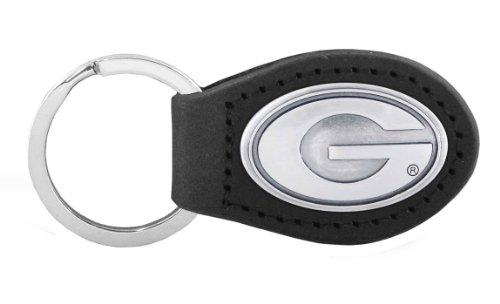 NCAA Georgia Bulldogs Black Leather Concho Key Fob, One ()