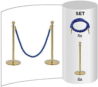 Sistema de gesti/ón de Personas Flexible con cord/ón Oro Soporte de Cordel//Bloqueo Base