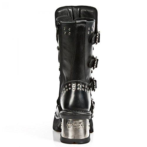 New Rock Boots M.1029-c1 Gotico Hardrock Punk Damen Stiefel Schwarz