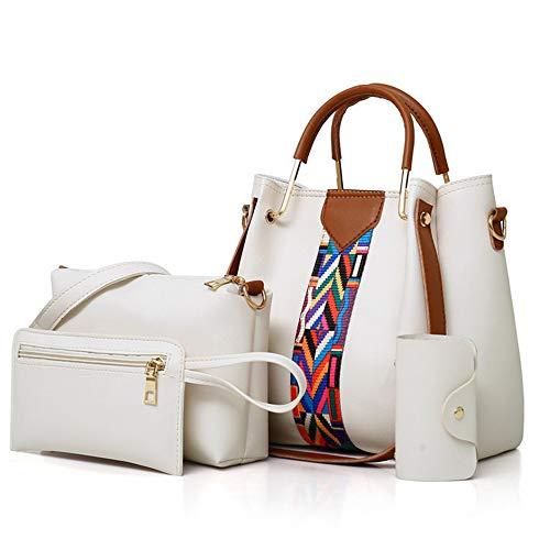 Femmes Ribbon Set Bandoulière Vintage Mode Handbags Four Épaule 7 White Couleurs New Sac Mzdpp Set 5fwxqY44