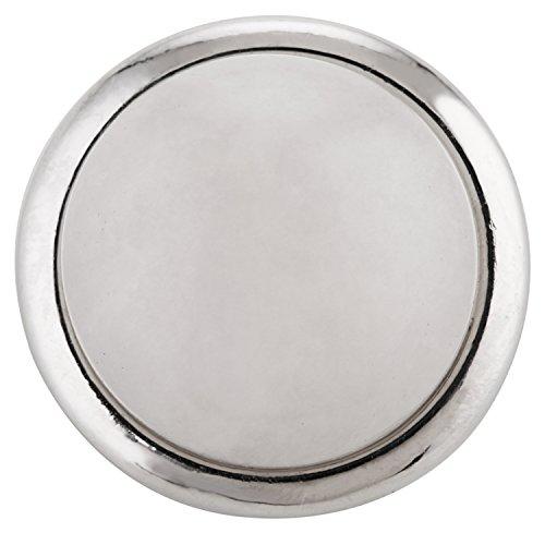 Morella click-button Bouton Pression Pierre Naturelle demi-sphère Blanc Jade de Pierre