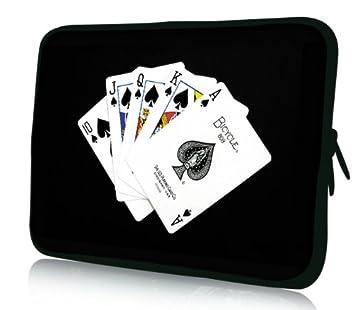 Luxburg® Design Funda Blanda Bolso Sleeve para Ordenador Portátil / MacBook de 15,6 pulgadas, motivo: Baraja francesa: Amazon.es: Electrónica