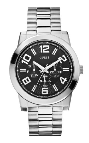 GUESS-Mens-U0264G1-Self-Assured-Stainless-Steel-Multi-Function-Watch