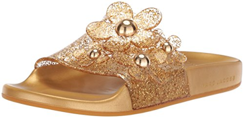 Aqua Slide Daisy Marc Womens Marc Womens Sandal Daisy Jacobs Gold Jacobs 7ZwPx