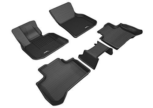 - 3D MAXpider L1BM09201509 Complete Set Custom Fit All-Weather Floor Mat for Select BMW X3 (G01) Models-Kagu Rubber (Black)