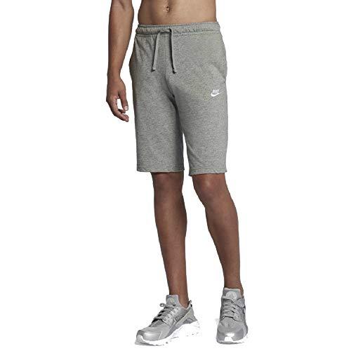 Nike Mens Sportswear Jersey Club Shorts (XXL, Birch Heather/Black)