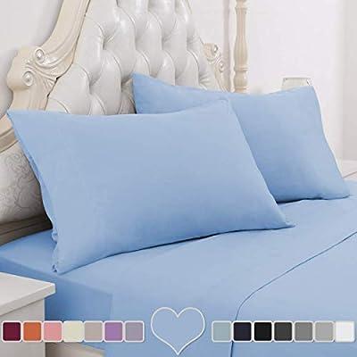 Bedding Items Deep Pocket All US Sizes 1000TC Egyptian Cotton Egyptian BlueSolid