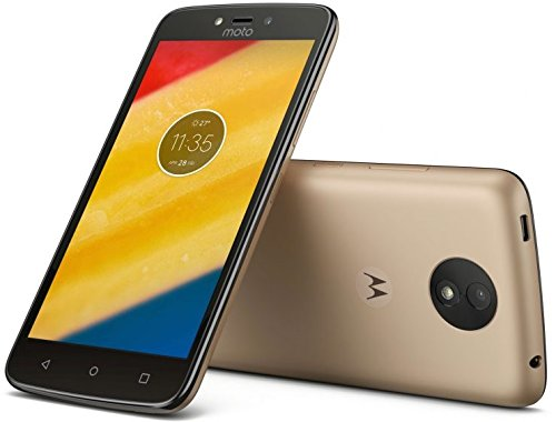 Motorola Moto C 4G LTE Unlocked XT1754 Quad Core 16GB Android 7.0 Dual Sim 5 Inch International Version (Fine Gold)