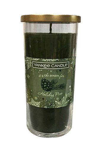 - Holiday Pine Single Wick Holiday Pillar Candle Glass Vessel 20 oz