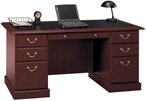 Pemberly Row Home Office Executive Wood Desk
