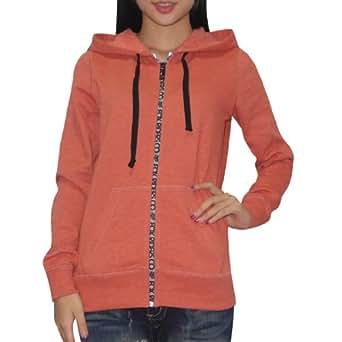 Fox Womens Warm Surf & Skate Zip-Up Hoodie Sweatshirt Jacket Small Dark Coral