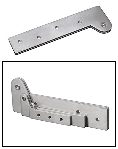 KFZ Upper and Lower Hinges Cupboard/Cabinet Door Hinges 7-Shape Head Concealed Hings 180 Degree Rotating Hinge JD-DJPF12 Hardware Accessories (10,L) by KFZ (Image #5)
