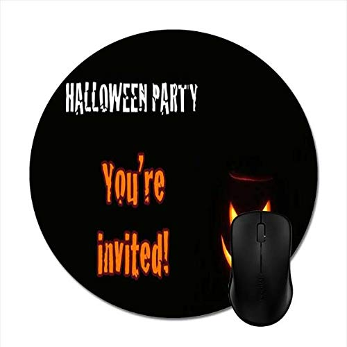 Featured Halloween Quote Scary Pumpkin Mouse Pads - Stylish Office Accessories -