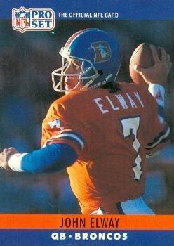 John Elway Football Card (Denver Broncos) 1990 Pro Set #88