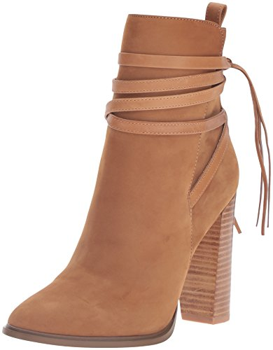 Boho-Chic Vacation & Fall Looks - Standard & Plus Size Styless - Steve Madden Women's Gaybel Ankle Bootie, Tan Nubuck, 9 M US