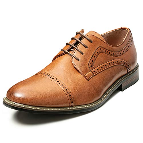 Men's Classic Cap Toe Lace-up Brogue Oxford Dress Shoes (12 M US, -