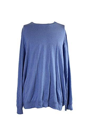 Club Room Mens Ribbed Trim Long Sleeves Casual Shirt Blue XXL from Club Room