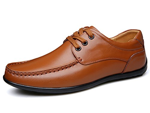 38 marea Business 43 Spring pelle scarpe Casual marrone in mano Men Summer Xie w6q8nBHv8