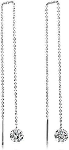 ピアス レディース 一粒 ダイヤモンドCZ 長いデザイン シンプル フェミニン 大人 18金RGP (ピンクゴールド) 2点セットギフト包装