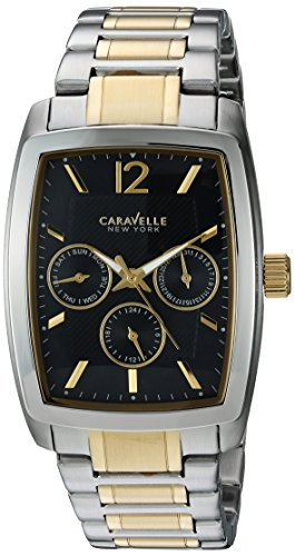 Caravelle New York Men's Analog-Quartz Watch with Stainless-Steel Strap, Two Tone, 22 (Model: 45C112 -