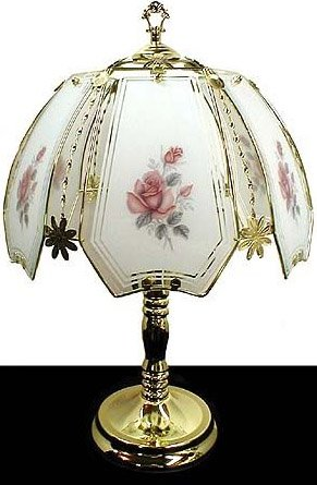 Teacup Roses Touch Lamp