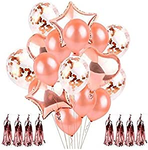 Party Decorations Supplies-35pcs- Clear Confetti Balloon Latex Confetti Ballon 12inch, Great for Birthday,Wedding,Graduation,Anniversary,Baby Shower,Holidays,First Communion,Bridal Shower