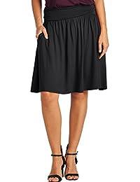 TRENDY UNITED Women's Rayon Spandex High waist Shirring...