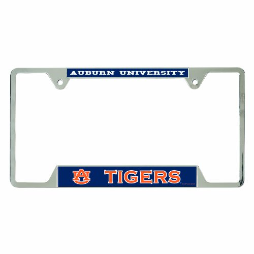 WinCraft NCAA Auburn Tigers License Plate Frames, 21471010 (Auburn Tigers Chrome License Plate)