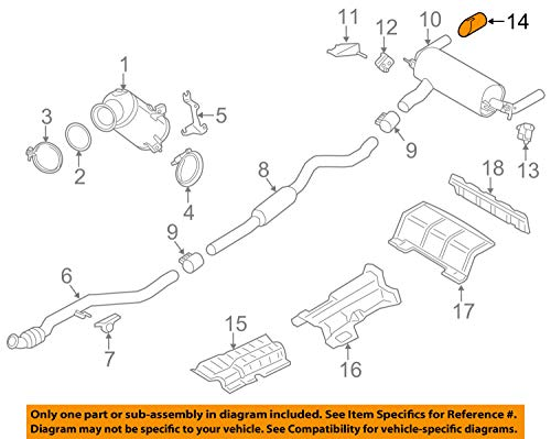 Genuine M Performance Exhaust Tailpipe Muffler Tip CARBON BMW 2 3 4 Series 2012-