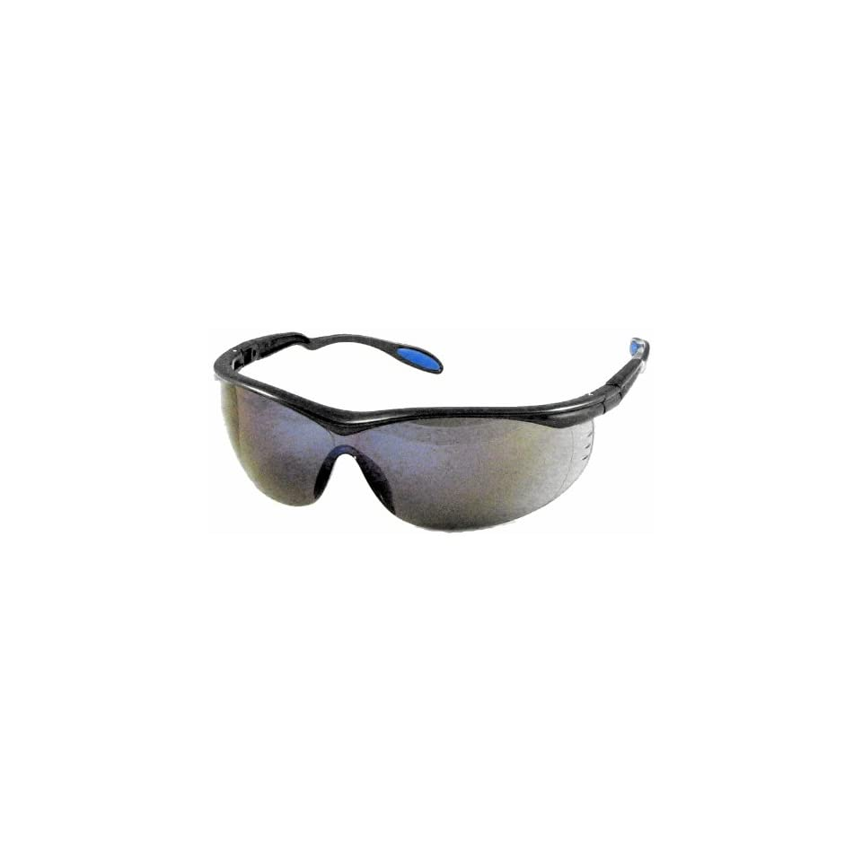 US Safety U92224 Columbia 222 Panascopic Safety Glasses with Ratchet Temples, Blue Mirror Lens, Slate Frame (Box of 12)