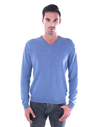LEBAC Men's 100% Cashmere V-Neck Sweater (Boyfriend V-neck Cashmere Sweater)