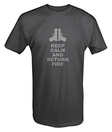 Stealth - Keep Calm and Return Fire Pistols Guns T shirt - 6XL