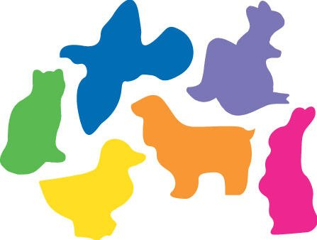 Sticky Shapes - Animals - Package of 225