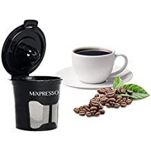 6 Reusable K-Cups - Stainless Steel Mesh Single Cup Filter Pod - by Mixpresso Coffee