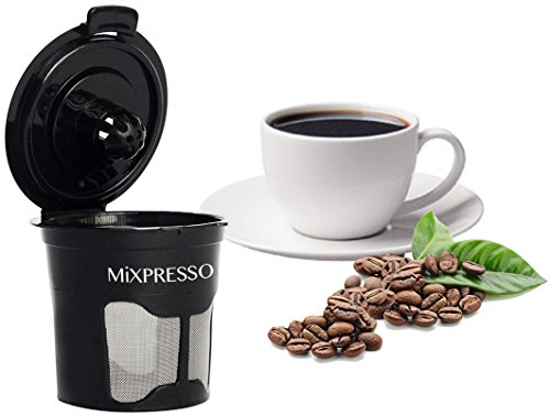Commercial Hot Chocolate Maker (Mixpresso's 6 Reusable Single K-Cup Solo Filter Pod Coffee Stainless Mesh for Keurig Brewers)