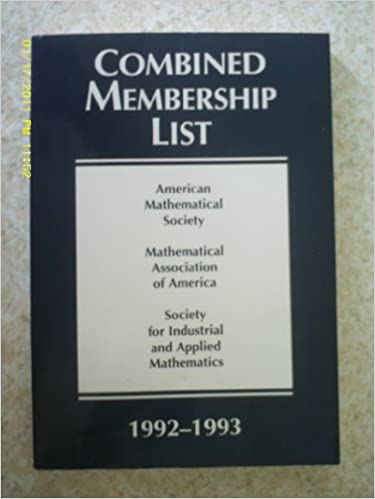 American Mathematical Society Combined Membership List (Combined Membership List (American Mathematical Society))