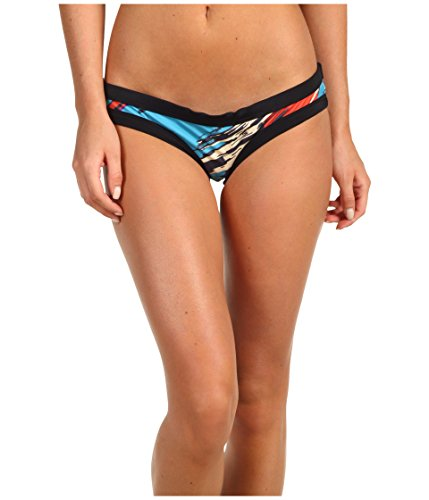 Rachel Pally Womens Hipster Printed Swim Bottom Separates Black L