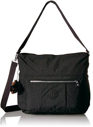Kipling Carley Solid Hobo Crossbody Bag, black