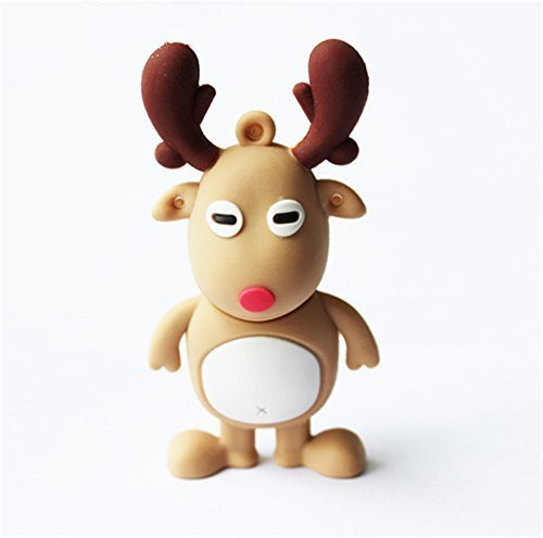 Funnyusb Cartoon Christmas Animal Elk Deer Shape 8GB 8G Gift USB Flash Drive Pen Drive Memory Stick Pendrive