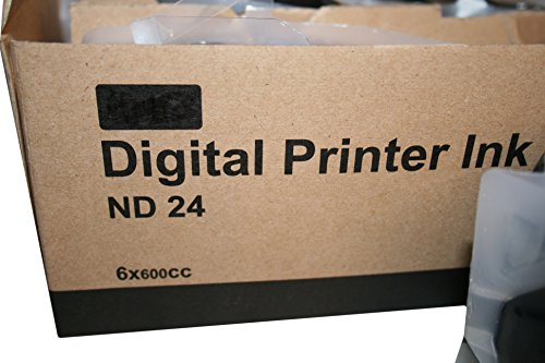Digital Duplicator Ink - 6 Wholesale Widgets ND24 Black Inks Compatible with Duplo ND-14 / ND-24, For Use In Duplo DP330, & DP430 Digital Duplicators DUPND24C