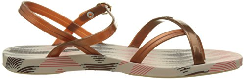 Ipanema Fashion Sand Iv Fem - tira en talón Mujer Beige (Beige/Bronze)