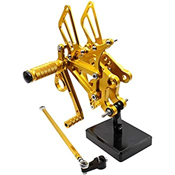 FXCNC Racing Billet Motorcycle Rearsets Foot Pegs Rear Set Footrests Fully Adjustable Foot Boards Fit For Aprilia RS4 125 4T 2011 2012 2013 2014 2015 2016 ...