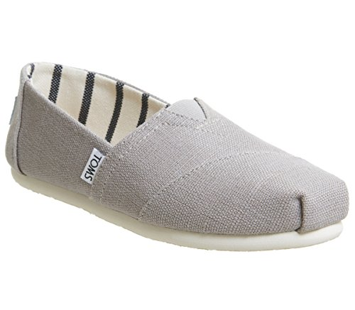Grey 6 Panel Cotton Twill - TOMS Womens Venice Casual Lifestyle Shoe, Morning Dove, 6 B(M) US