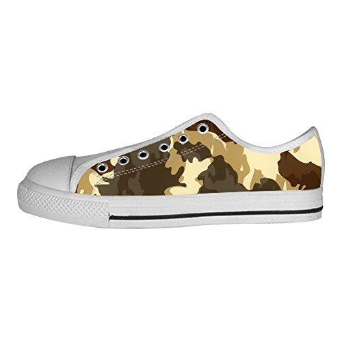 Tetto Canvas Ginnastica Shoes Custom I Alto Lacci Camuffamento Delle Da Women's Scarpe PqwHwgE