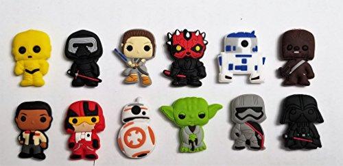 Set of 12 Star Wars Novelty Magnets -