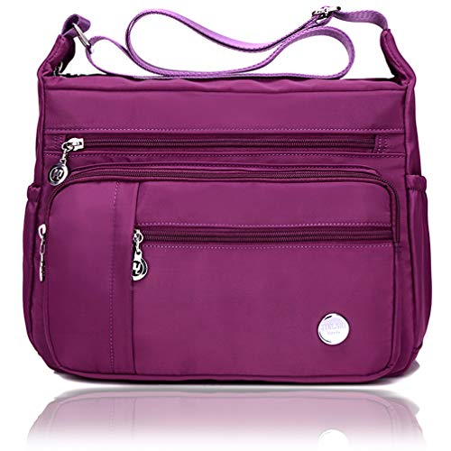 Shoulder COCIFER Purple Purses for Women Multi Bags 3 Ladies Leather Pockets Bag Crossbody Medium 6xqF6U
